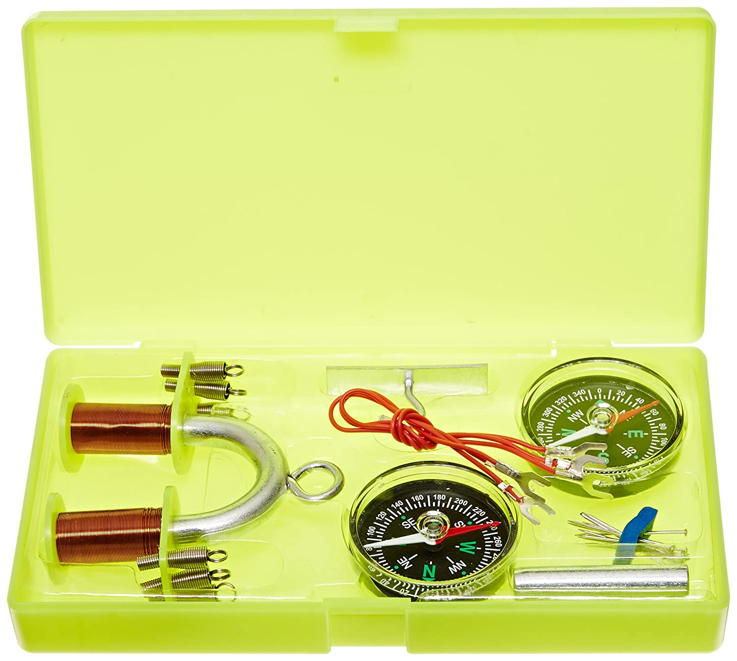 United Scientific EMKIT2 Electromagnet Kit with Instruction Manual and Plastic Storage Case