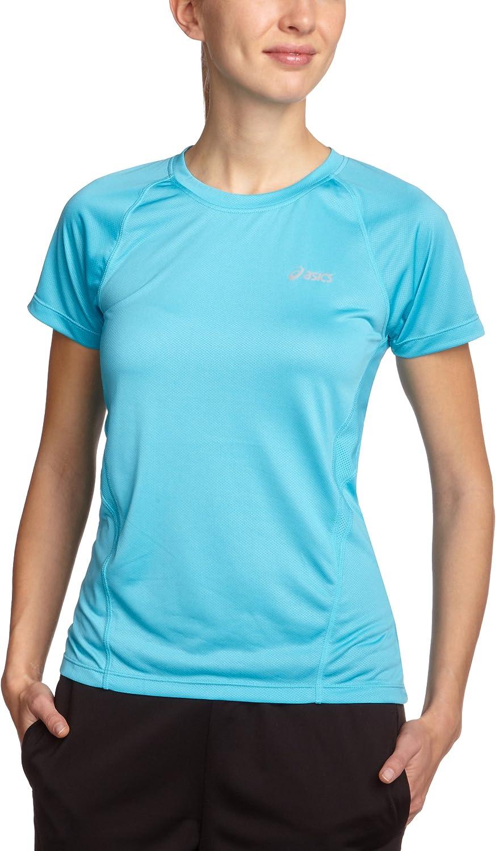 ASICS - Camiseta de Manga Corta con Cuello Redondo de Golf para Mujer