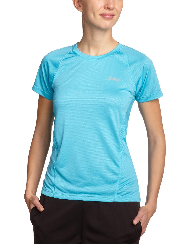 TALLA x - klein. ASICS - Camiseta de Manga Corta con Cuello Redondo de Golf para Mujer