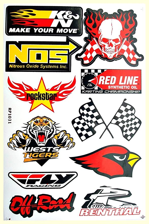 Amazon.com: Cars Nos Hoosier Holley BMW Mopar Texaco Drag Racing Lot 6 vinyl decals stickers D6023: Arts, Crafts & Sewing