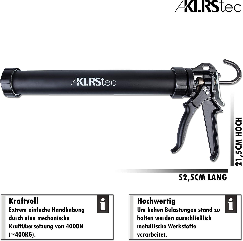 klrstec Pro XL cerrados profesional calafatear de metal/ /600/ml resistente al de y klebstoffkartuschen /de alta calidad 4/K 310/ml Off Prensa para verfugen con todos los 300/ silicona, acr/ílico Cubier