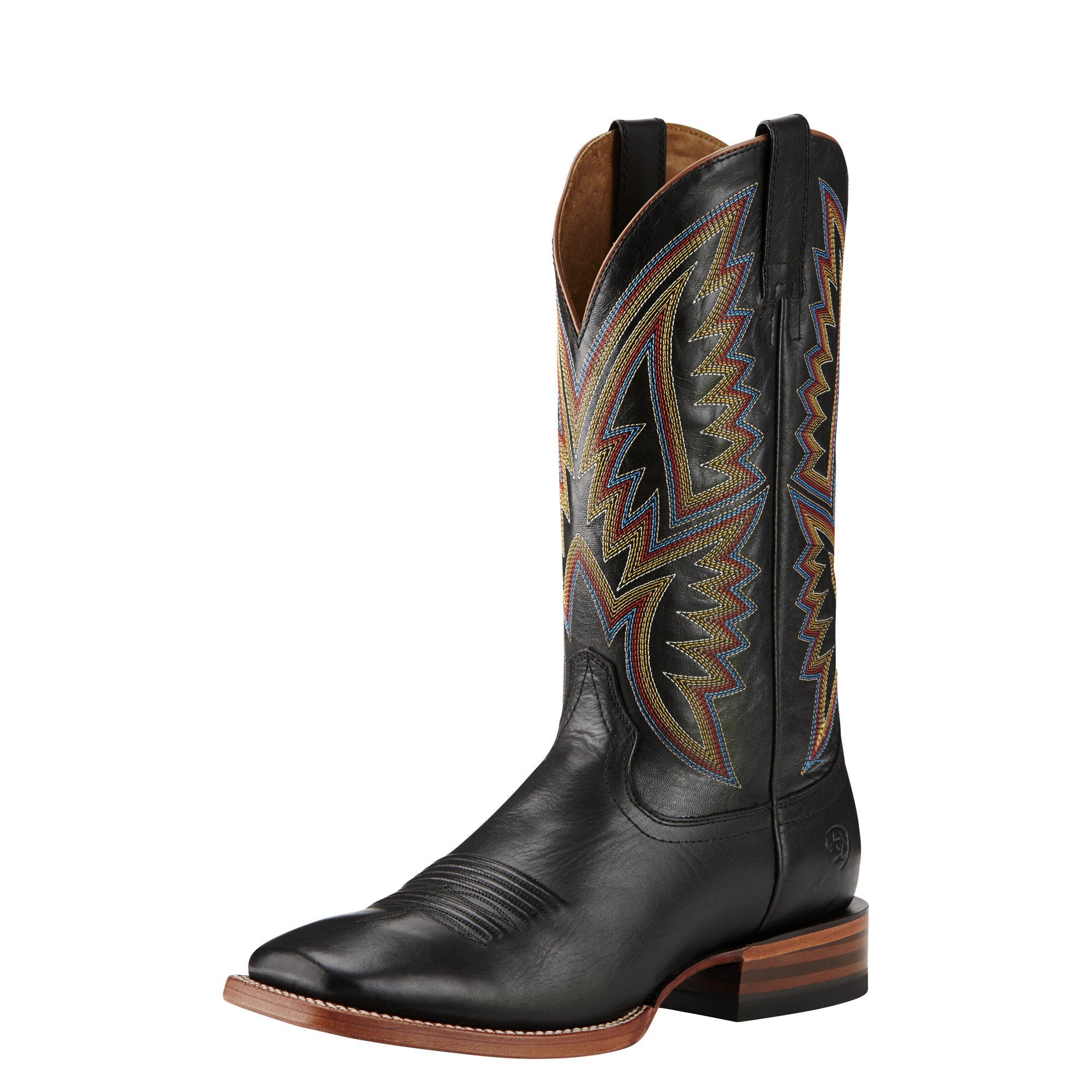 Ariat Men's Hesston Western Cowboy Boot, Midnight Black/Black, 8 D US