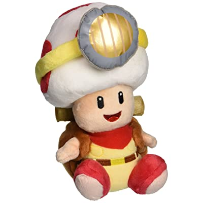 "Little Buddy Super Mario Bros. 6.5"" Captain Toad Sitting Pose Stuffed Plush: Toys & Games"