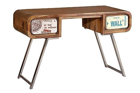 Scrivania Vintage Legno : Indodecor tavolo scrivania vintage in legno di palissandro e