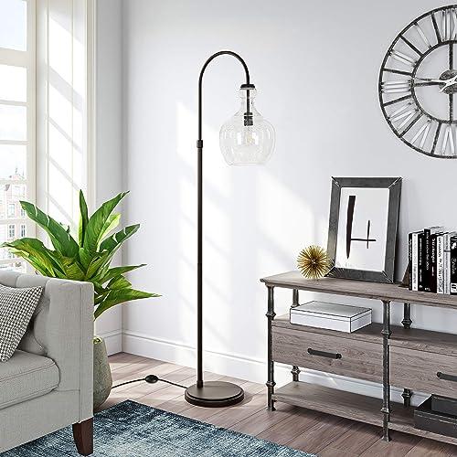 Henn Hart Arc Blackened Bronze Floor Lamp