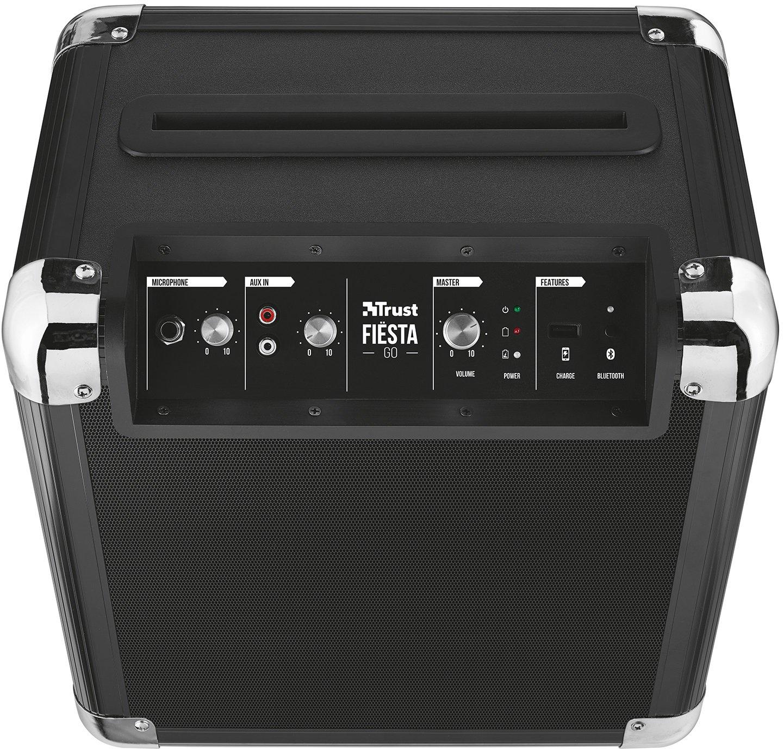 Trust Urban Fiesta Go - Altavoz/amplificador inalámbrico con Bluetooth y micrófono, 40W RMS, negro: Amazon.es: Electrónica