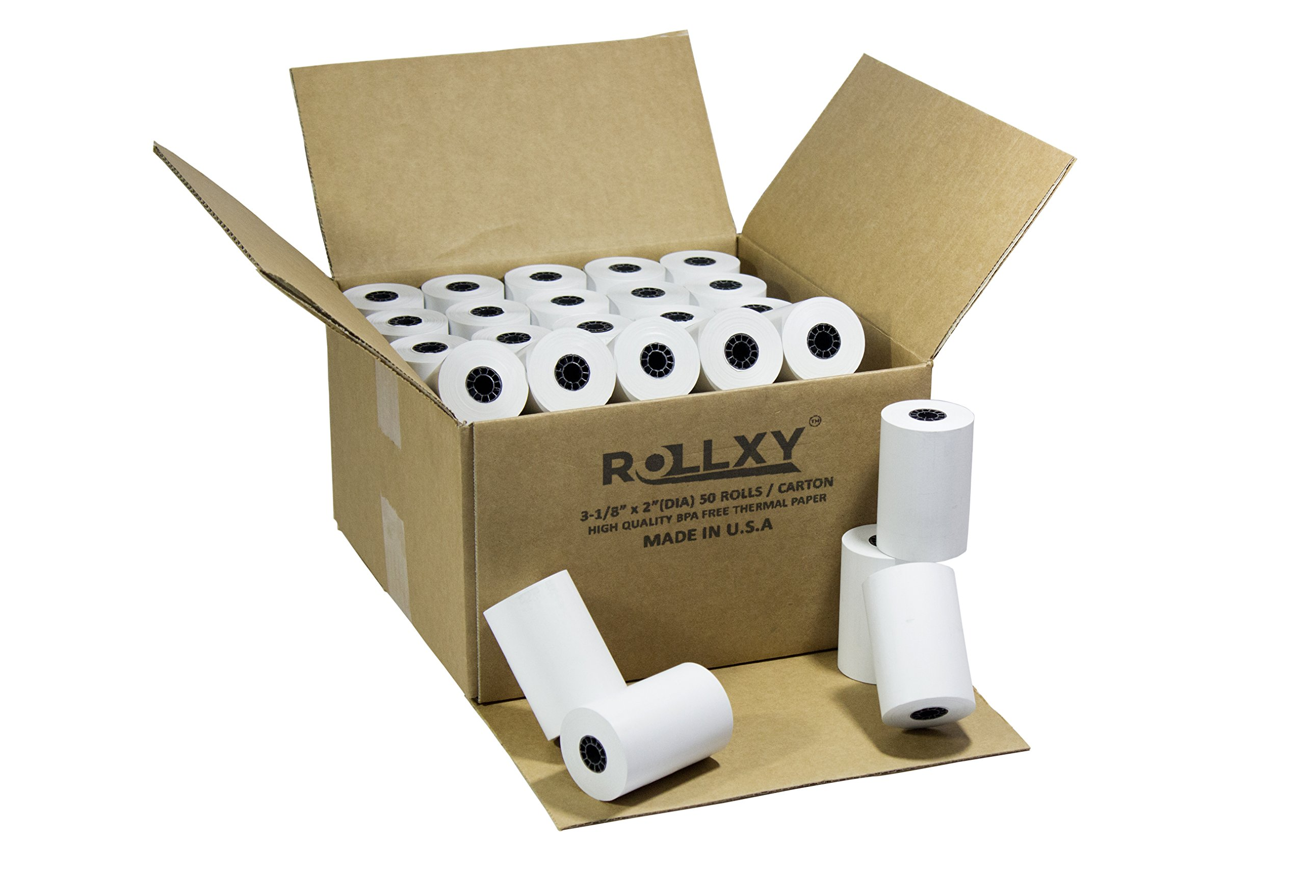 50 Roll of 3 1/8'' x 119' Thermal Cash Register Paper First Data FD100 FD200 FD300