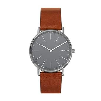 Skagen Reloj Analogico para Hombre de Cuarzo con Correa en Cuero SKW6429: Amazon.es: Relojes