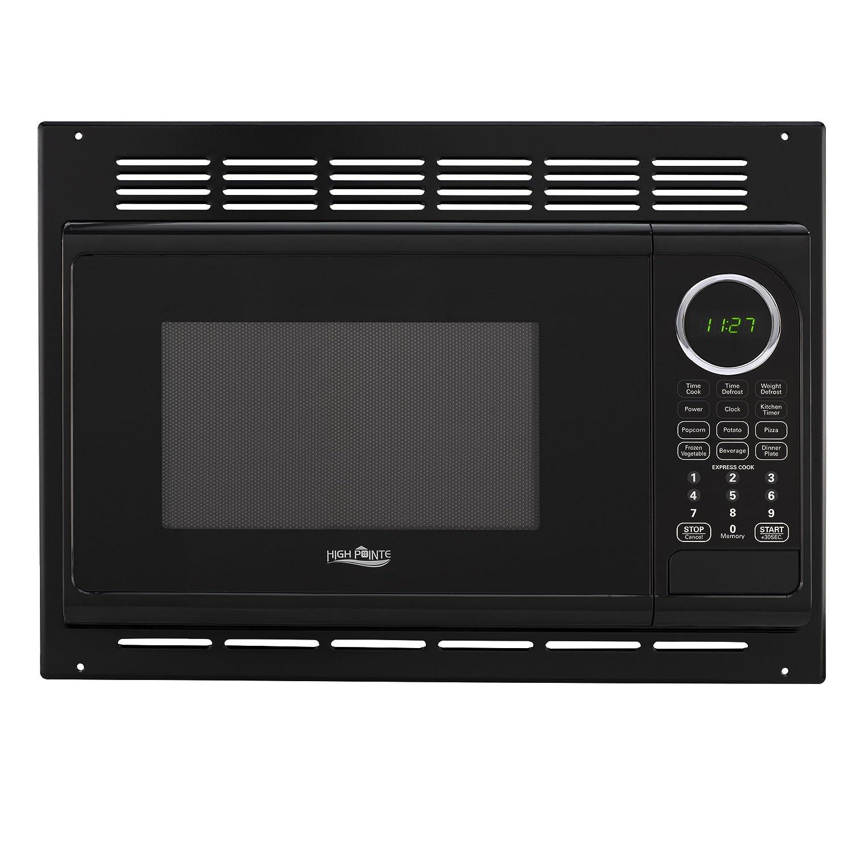 RecPro RV Microwave .9 Cubic Ft Black Microwave w/Trim 900 Watt (RPM-1-BLK)