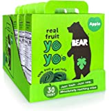 BEAR - Real Fruit Yoyos - Apple - 0.7 Ounce (30 Count) - No added Sugar, All Natural, non GMO, Gluten Free, Vegan - Healthy on-the-go snack for kids & adults