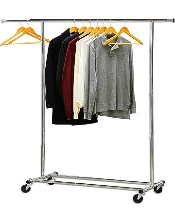 7a7e32d9787 Simple Houseware Heavy Duty Clothing Garment Rack