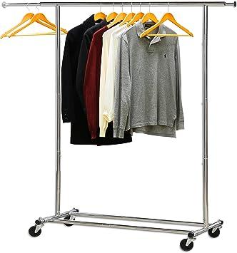 135feccc917f Simple Houseware Heavy Duty Clothing Garment Rack, Chrome