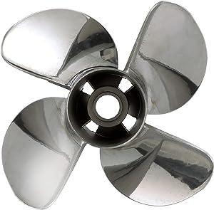 Quicksilver 4-Blade Q4 Stainless Steel Propeller
