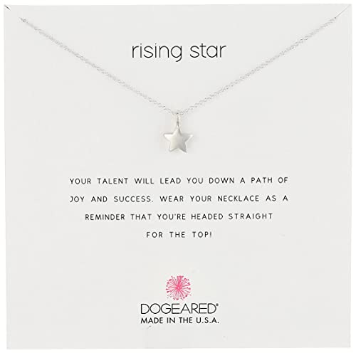 Dogeared Jewels & Gifts Reminders Rising Star and Full Star Reminder Silver Necklace: Amazon.ca: Jewelry