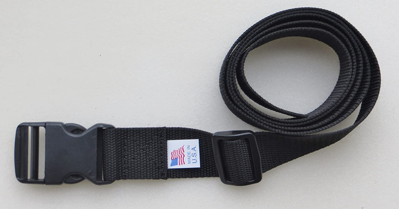 "2X Release Buckle 1/""~2/"" Dual Adjustable Security Lock Backpack Belts Straps"