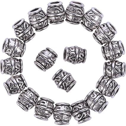 Dreadlocks Beads Anillos de Rastas Abalorios Separadores de Tubo Decoración  de Pelo 5b7977fe7f64
