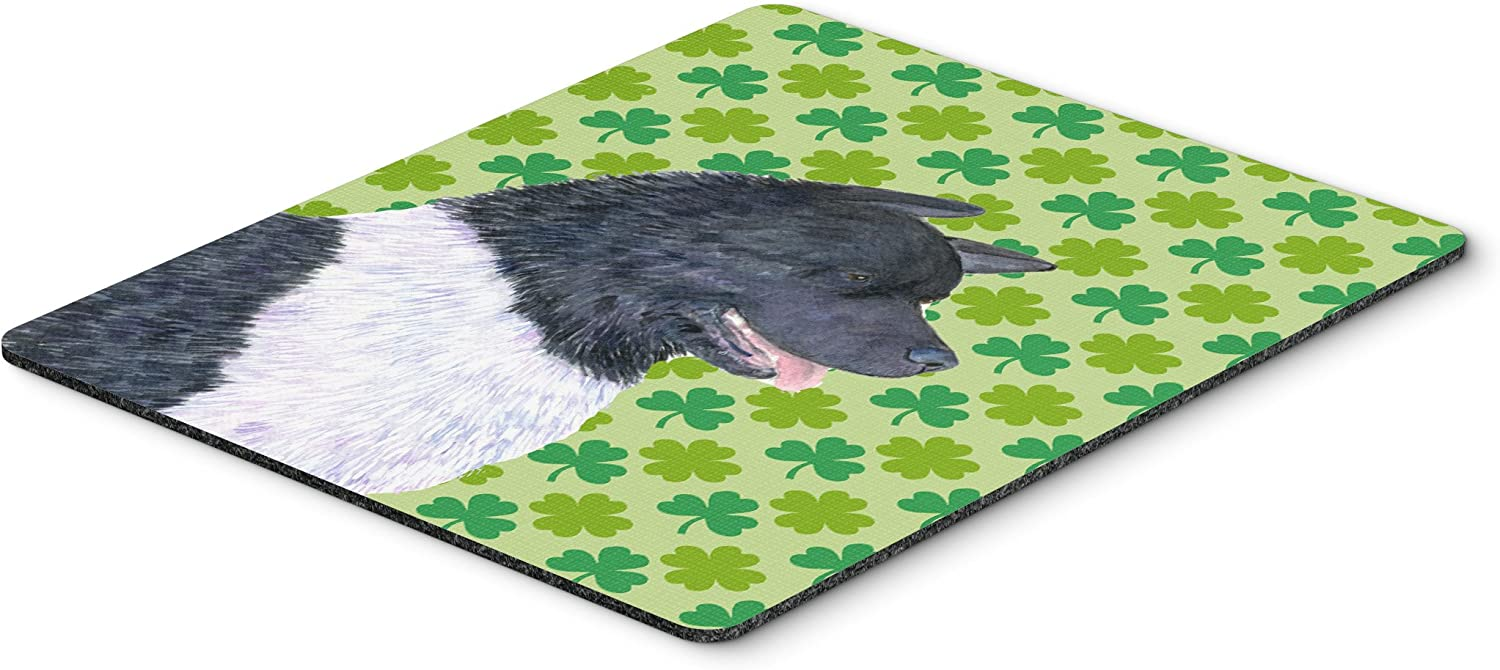Hot Pad or Trivet Multicolor Patricks Day Shamrock Portrait Mouse Pad Carolines Treasures SS4433MP Chow Chow St Large