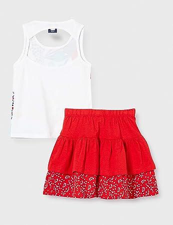 Tuc Tuc Conjunto Camiseta Y Falda Punto Volantes NIÑA Rojo Lost Ocean