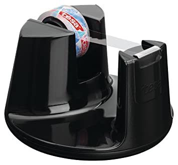 Tesa Easy Cut Compact 53827-00000-00 - Dispensador de cinta adhesiva (1 rollo, 10 m x 15 mm), color negro: Amazon.es: Oficina y papelería