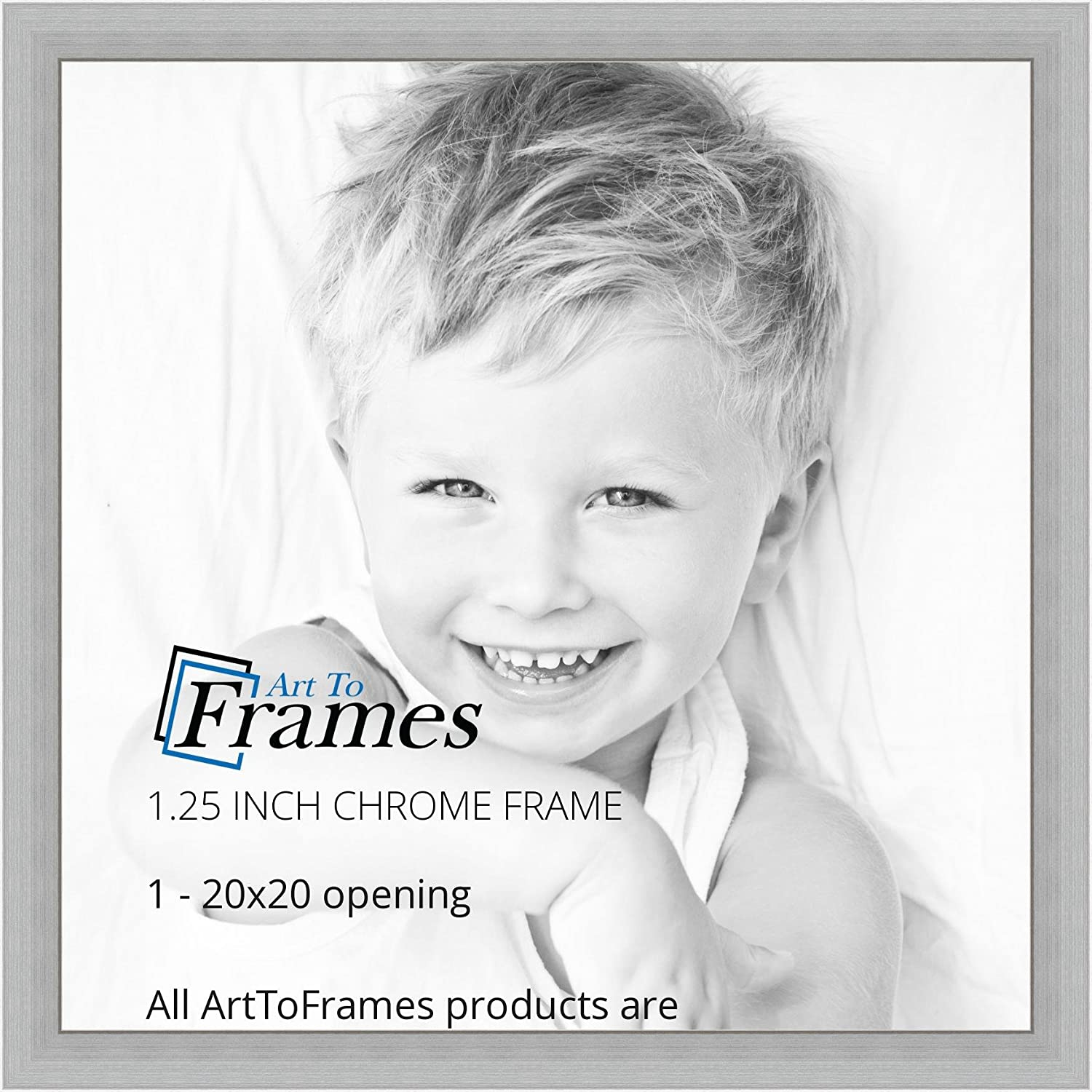 Amazon arttoframes 20x20 inch chrome stainless steel picture amazon arttoframes 20x20 inch chrome stainless steel picture frame womfrbw26966 20x20 single frames jeuxipadfo Image collections