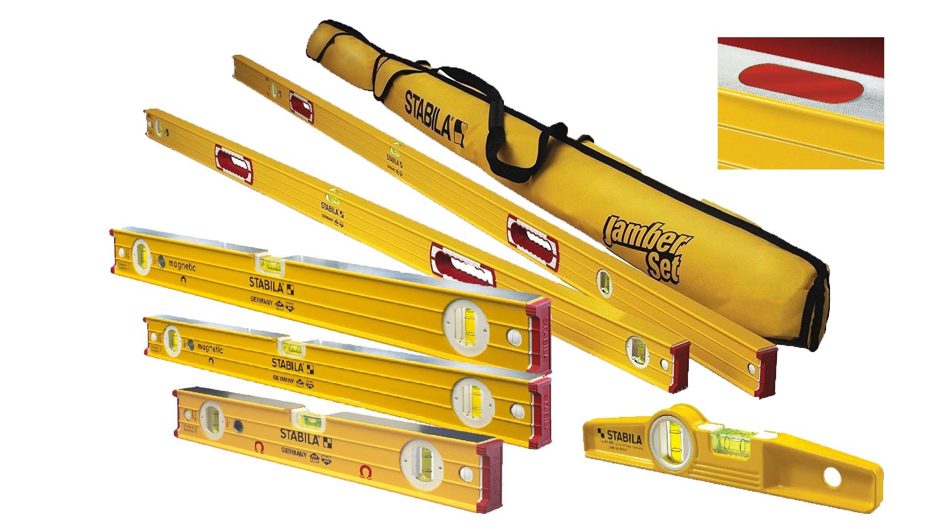 Stabila 96M Magnetic Level Set Kit - 78''/48''/32''/24''/16'' Torpedo and Case