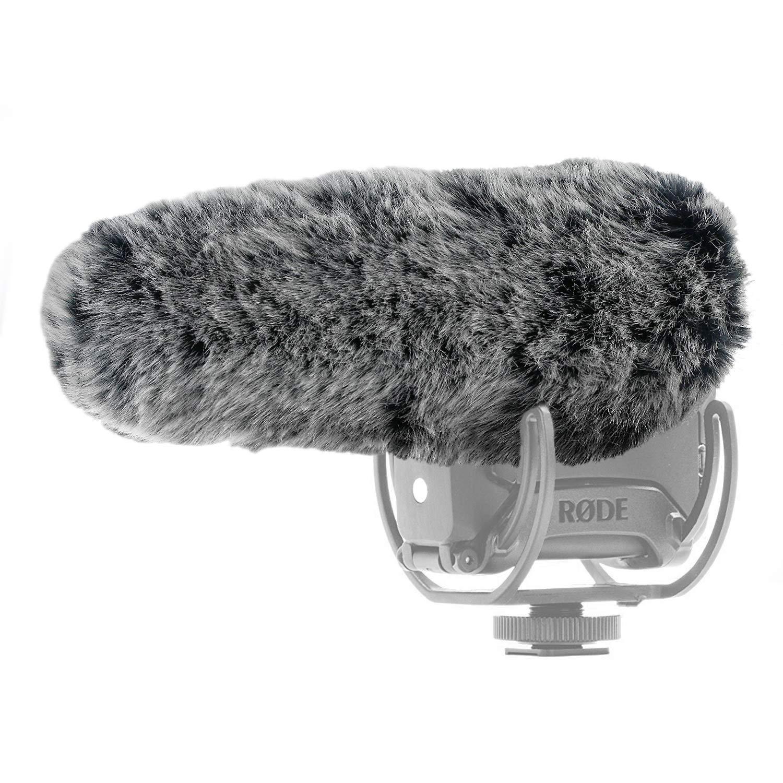 YOUSHARES microphone Deadcat pare-brise-exté rieur bouclier pare-brise MIC coupe de fourrure Custom fit pour Rode VideoMic Pro + microphone appareil photo Heartorigin