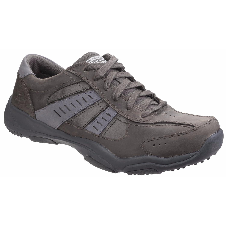 Skechers Larson-Nerick, Zapatillas para Hombre 41 EU|Gris (Charcoal)