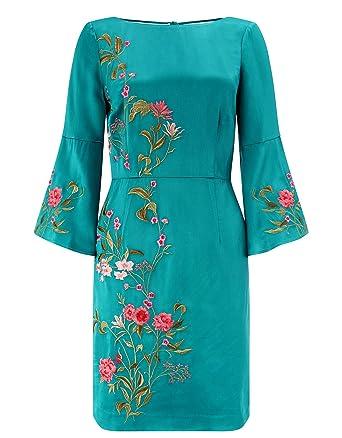 b90fc1ff9ea Monsoon Damen AKI kurzes Kleid mit Stickerei - 44  Amazon.de  Bekleidung