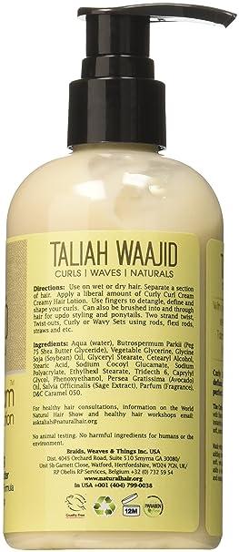 Amazon.com: Taliah Waajid – Producto de rizado Crema Loción ...