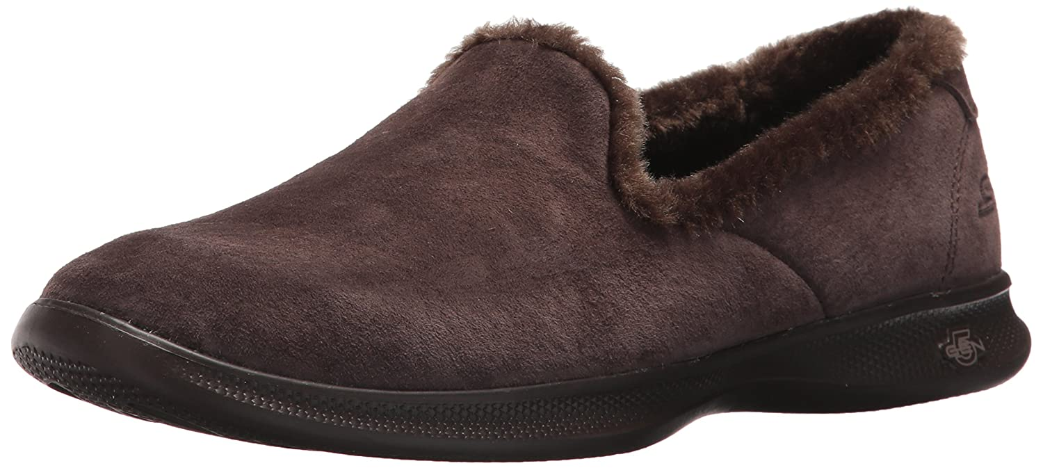 Skechers Women's Go Step Lite-Fuzzies Loafer Flat B06XY6CJCG 10 B(M) US|Chocolate