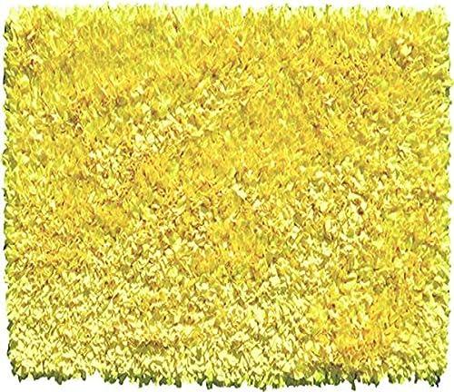 The Rug Market Shaggy Raggy Yellow Neon Area Rug Size 2.7×4.7