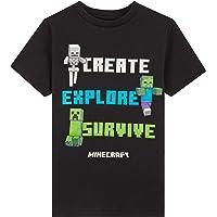 Minecraft Camiseta Niño, Ropa Niño Algodón 100%, Camisetas de Manga Corta, Merchandising Oficial Regalos para Niños y…