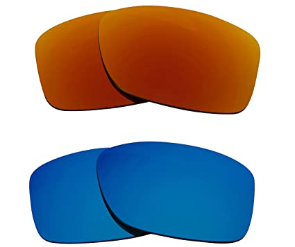 9cf98a77a2aa Image Unavailable. Image not available for. Color: JUPITER CARBON  Replacement Lenses Polarized Blue & Red by SEEK fits OAKLEY