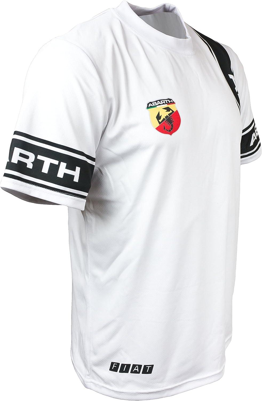 Fiat 500 Abarth Logo blanco para hombre coche de carreras gráficos ...