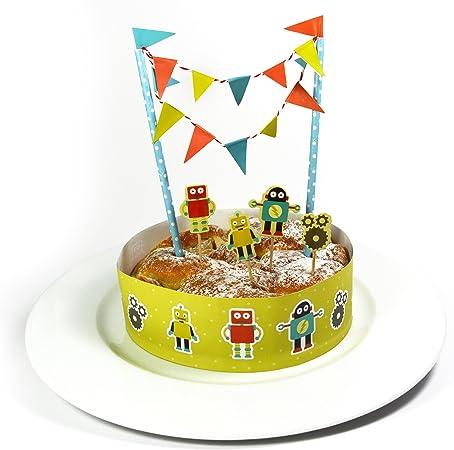 Frau Wundervoll Mujer Maravilla Completo Set de decoración de Tartas – Robot – Tarta/Guirnalda Cumpleaños Pastel Aufsatz//Guirnalda: Amazon.es: Hogar