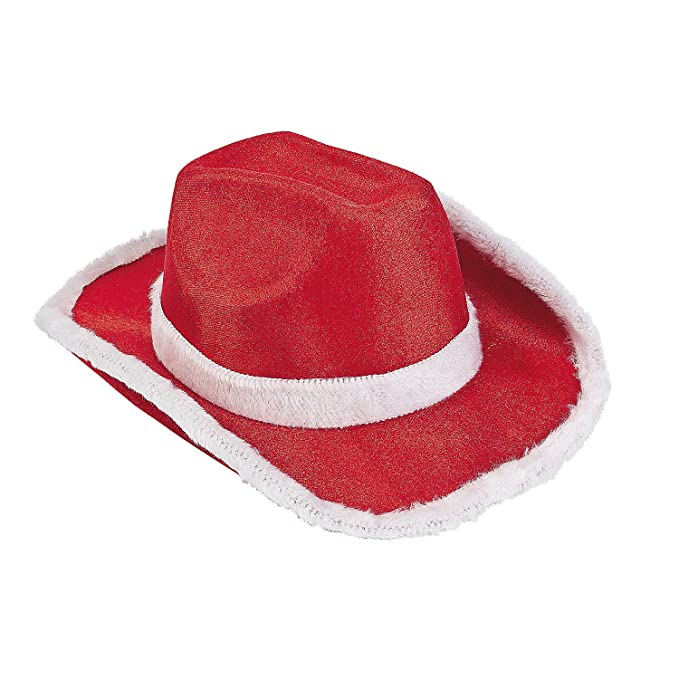 a9db7ab7f2d Amazon.com  Fun Express - Santa Cowboy Hat for Christmas - Apparel  Accessories - Hats - Cowboy Hats - Christmas - 1 Piece Red  Clothing