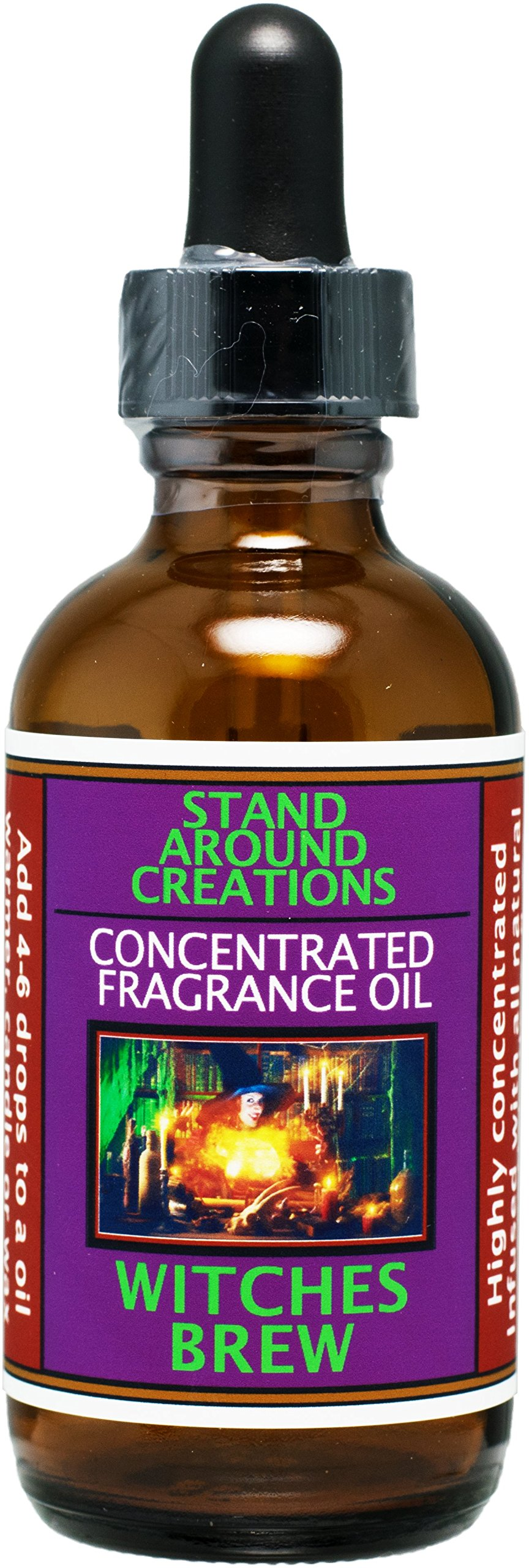 Concentrated Fragrance Oil - Witches Brew - A celebration of patchouli, cinnamon and cedarwood. Infused w/essential oils. (2 fl.oz.)