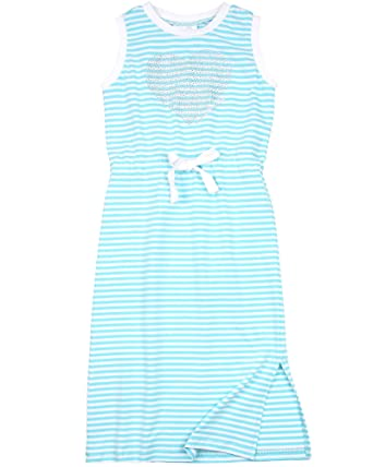 39c20b5ff Le Chic Girl's Blue Striped Maxi Dress, Sizes 4-14 at Amazon Women's ...