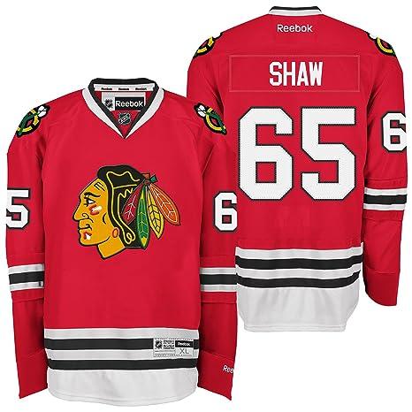 Reebok NHL Eishockey Trikot Jersey Premier Chicago Blackhawks Andrew Shaw #65 rot