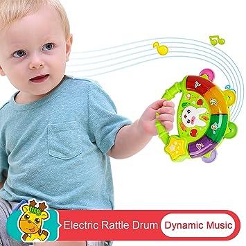 Juguetes para bebés recién nacidos, juguetes de pandereta dinámicos ...