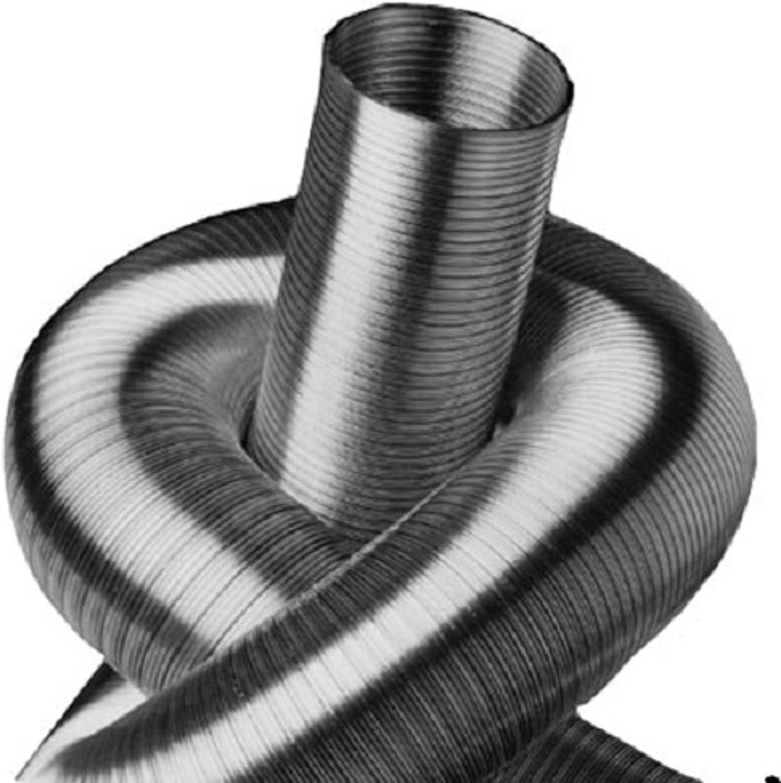 Tubo flexible de aluminio de 2 capas, longitud de 5 m, diámetro de 50 hasta 500 mm.