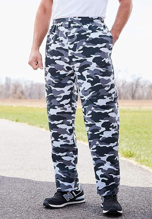 a6d5a918fff67 KingSize Men's Big & Tall Lightweight Jersey Sweatpants at Amazon Men's  Clothing store:
