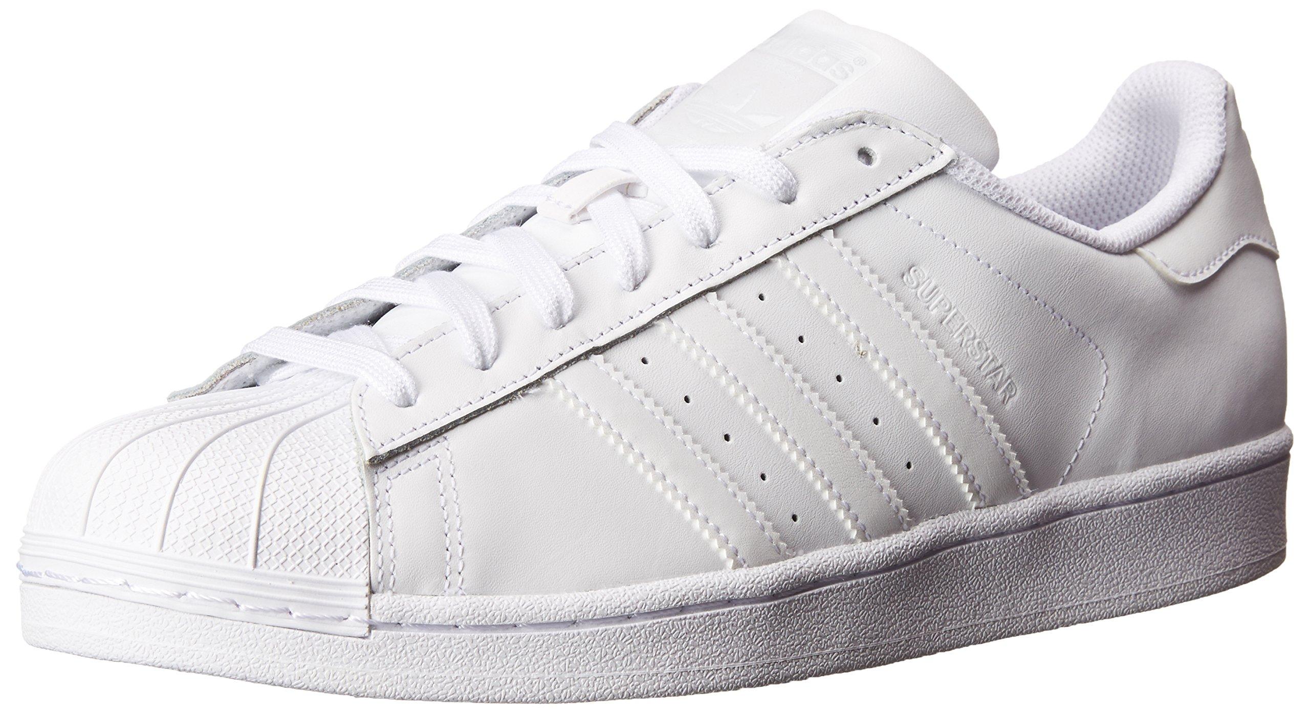 adidas Originals Women's Superstar W Fashion Sneaker, White/White/White, 8.5 M US