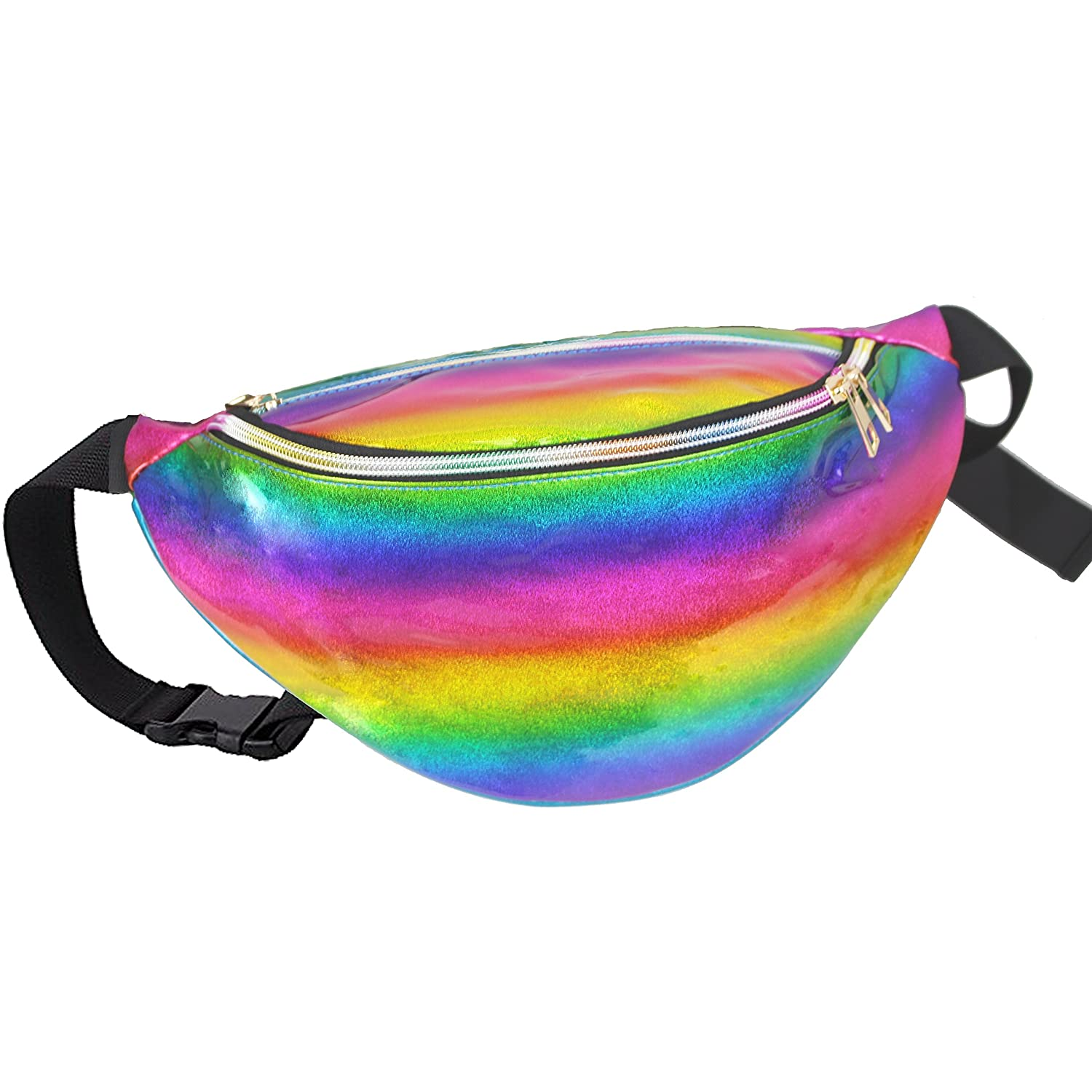 Festival Travel A AIFAMY Holographic Fanny Pack 3D Waist Pocket Funny Gag Gifts for Rave Party