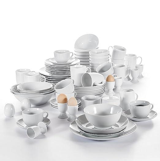 malacasa, serie Benita, Vajilla de 80 piezas Vajilla Porcelana ...