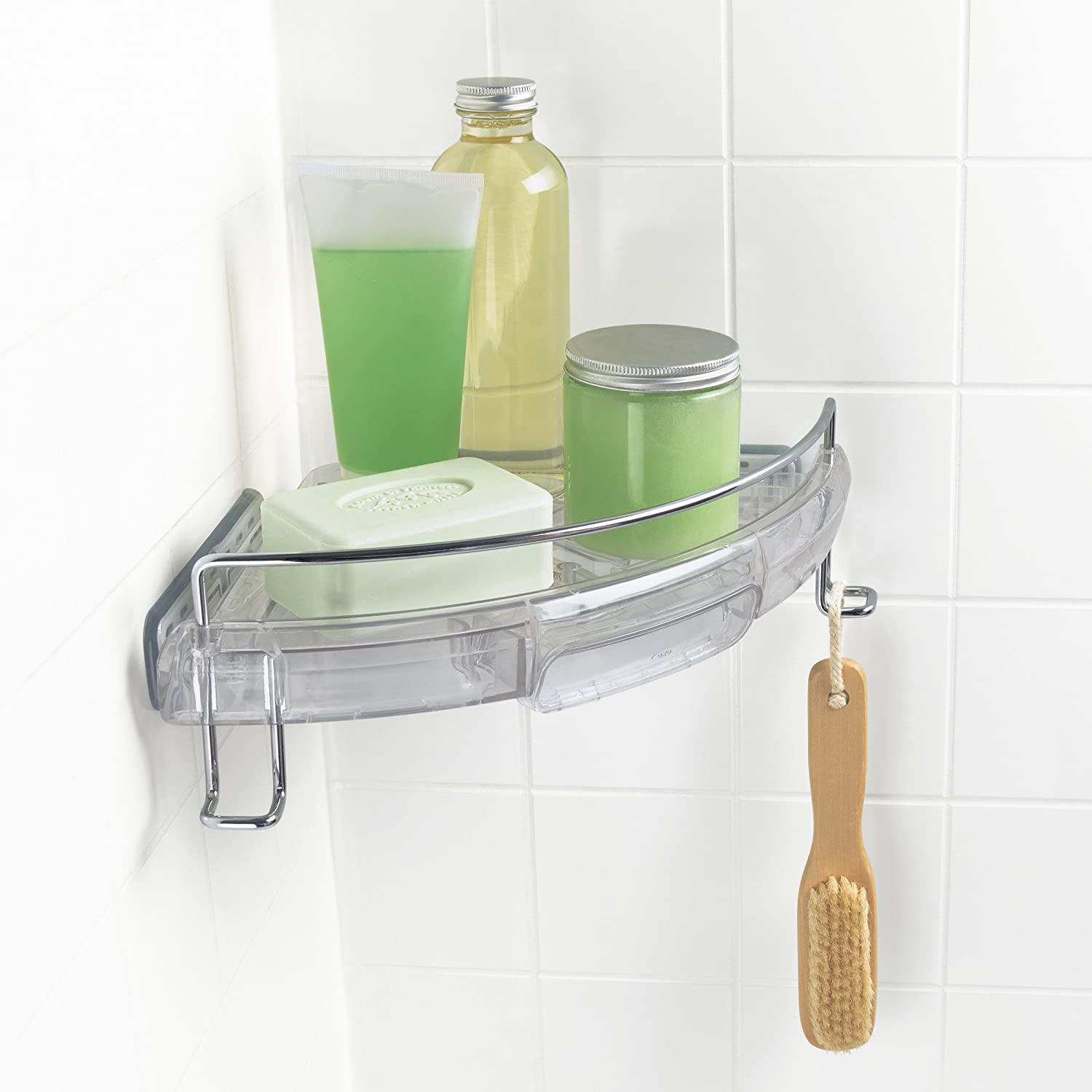 Amazon.com: OXO Good Grips Press Sure Corner Shower Caddy: Home ...