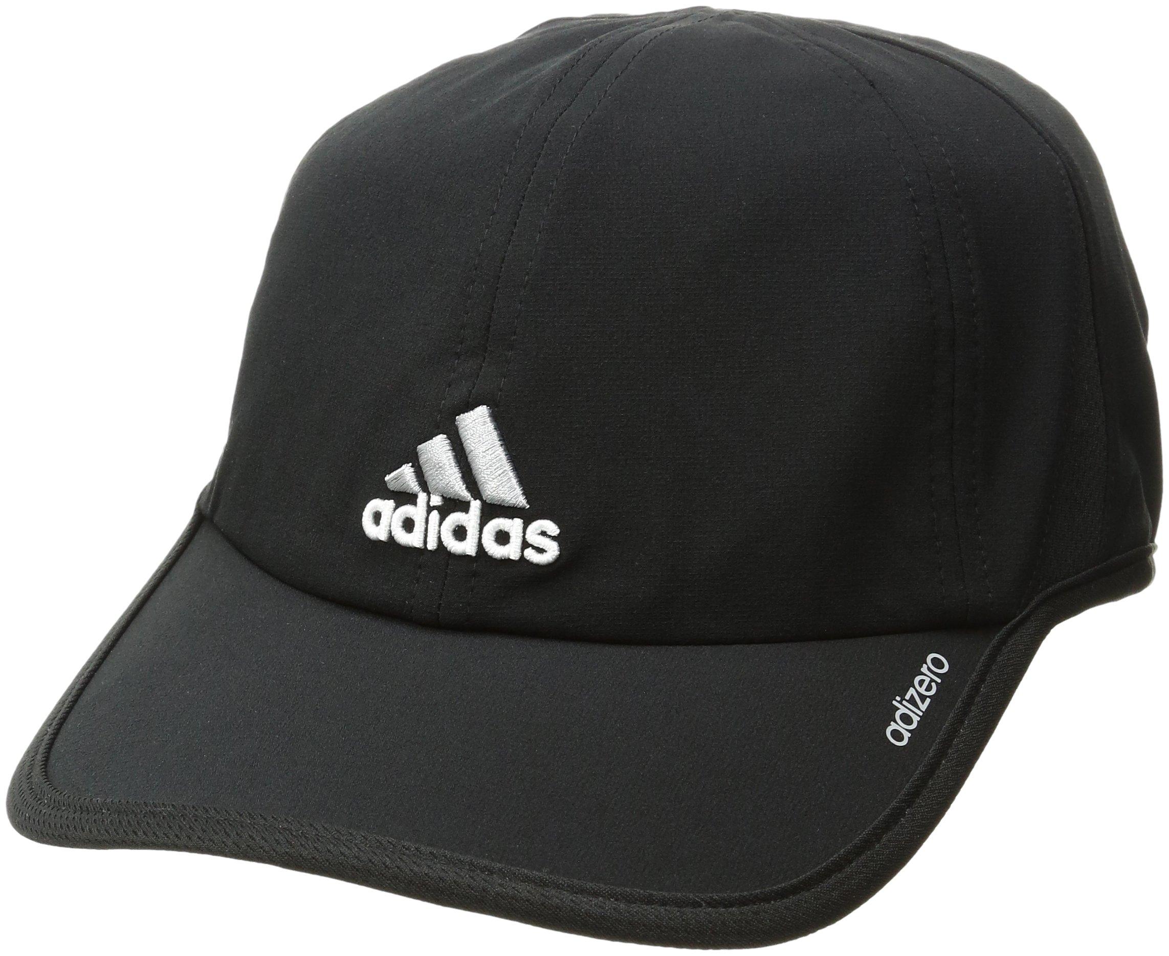 New Adidas Men s Adizero Cap Hat Black Aluminum One Size Adjustable ... 7fb5397cc67