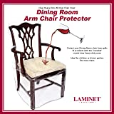 LAMINET Heavy-Duty Crystal-Clear Dining Chair with Arms Protectors - Protects Your Dining Room Chair All-Over from Dust…