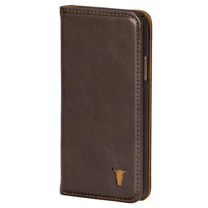 best service 472a8 d6d1f TORRO Premium Dark Brown Leather Stand Case/Cover for Apple iPhone Xs/X  Handmade
