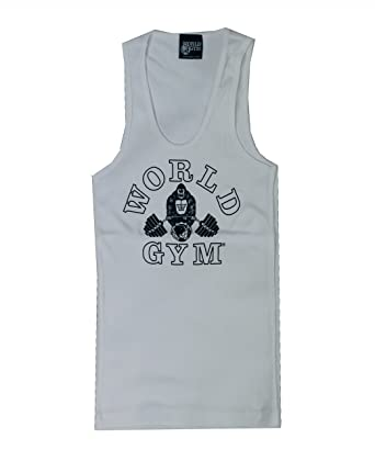 71f97610c6641f W390 Wife Beater World Gym Muscle Tank  Amazon.co.uk  Clothing